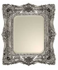 ORNATE 'TABLE PLAN' MIRROR - SILVER