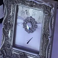 Table Number Frame Silver
