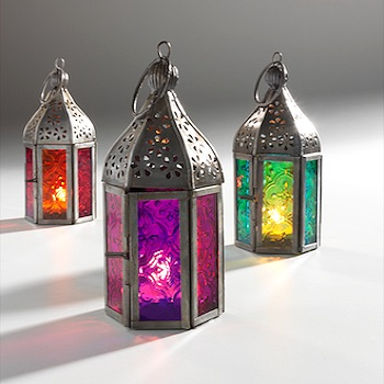 MINI MULTI-TONAL MOROCCAN LANTERNS