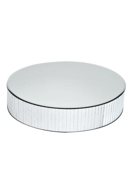 Mirrored Pedestal Round  40cm
