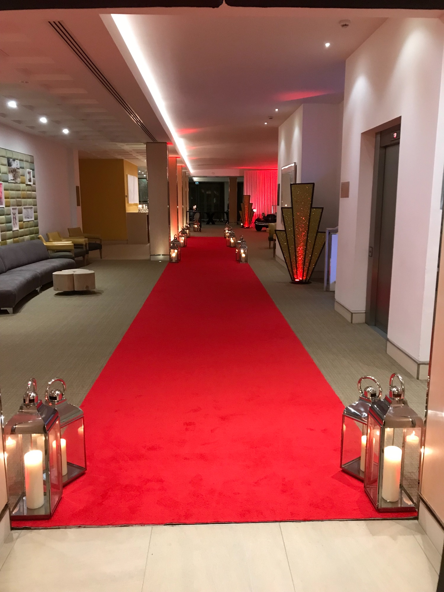 Red Aisle Runne - Marquee carpet -venue carpet