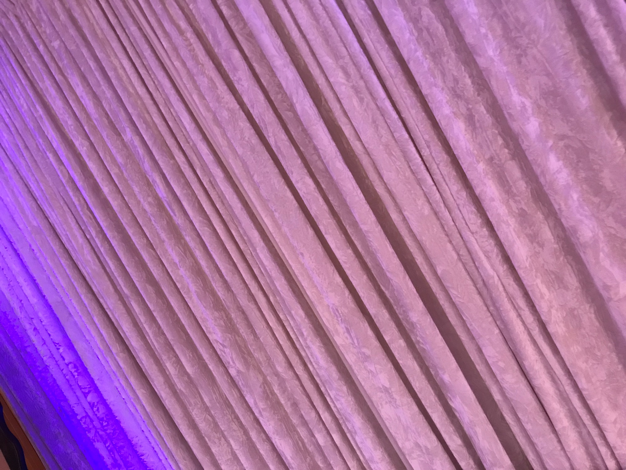 Pleated Venue draping