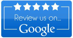 """Button saying """"review us on Google"""" with 5 stars"""