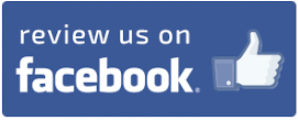 """Button saying """"review us on facebook"""" with the facebook thumb logo"""