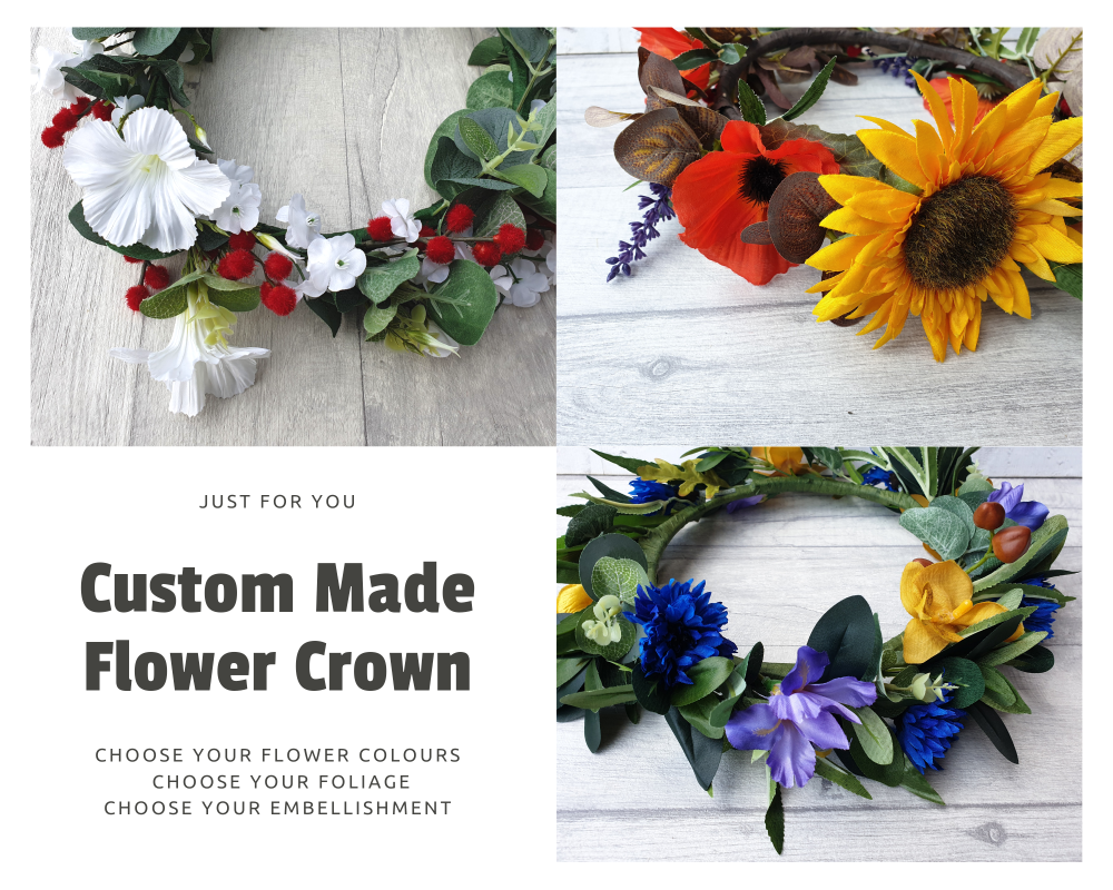Bespoke Flower Crown | Made to Order in Your Chosen Colours