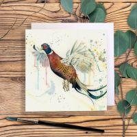 Flying pheasant