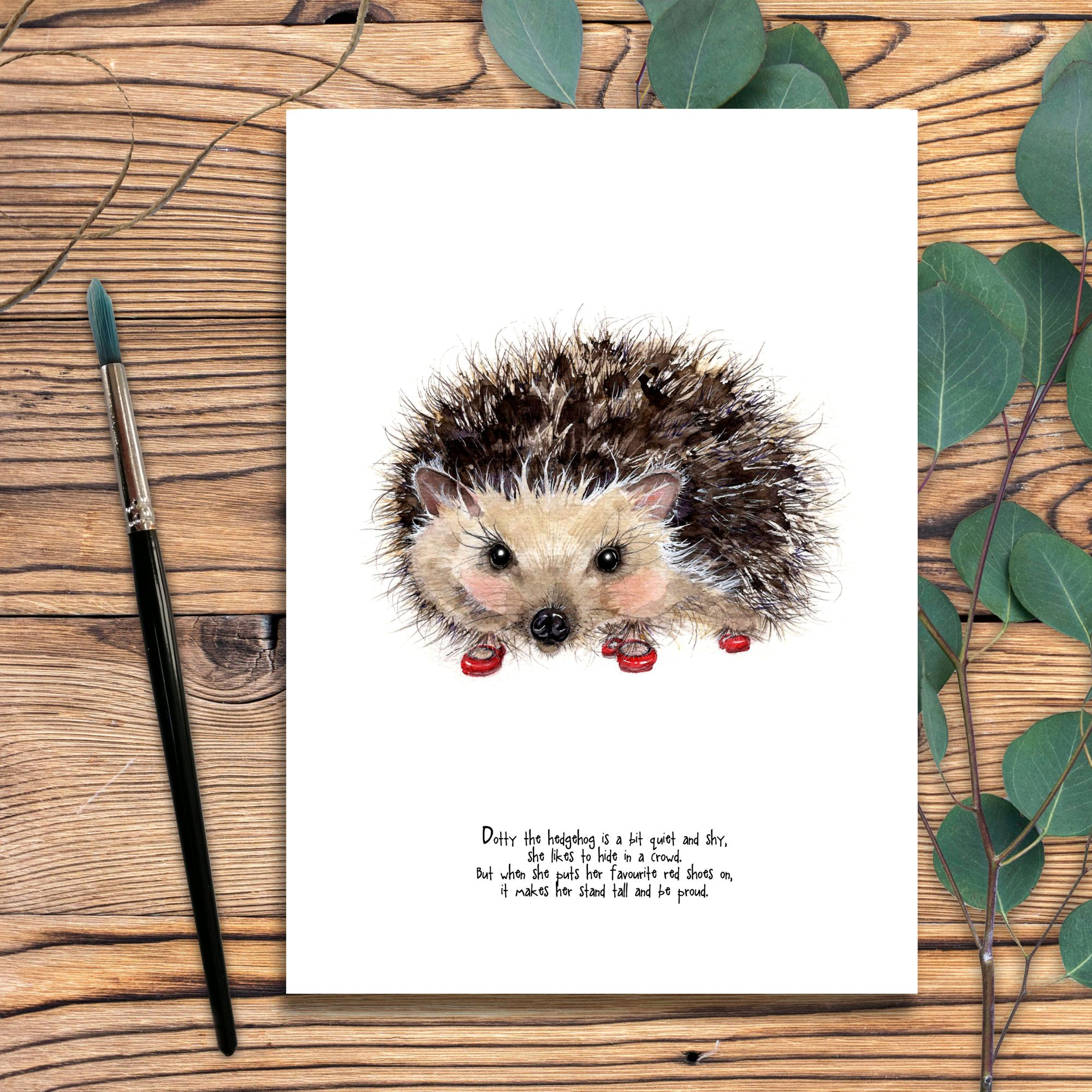 Dotty the hedgehog brush copy