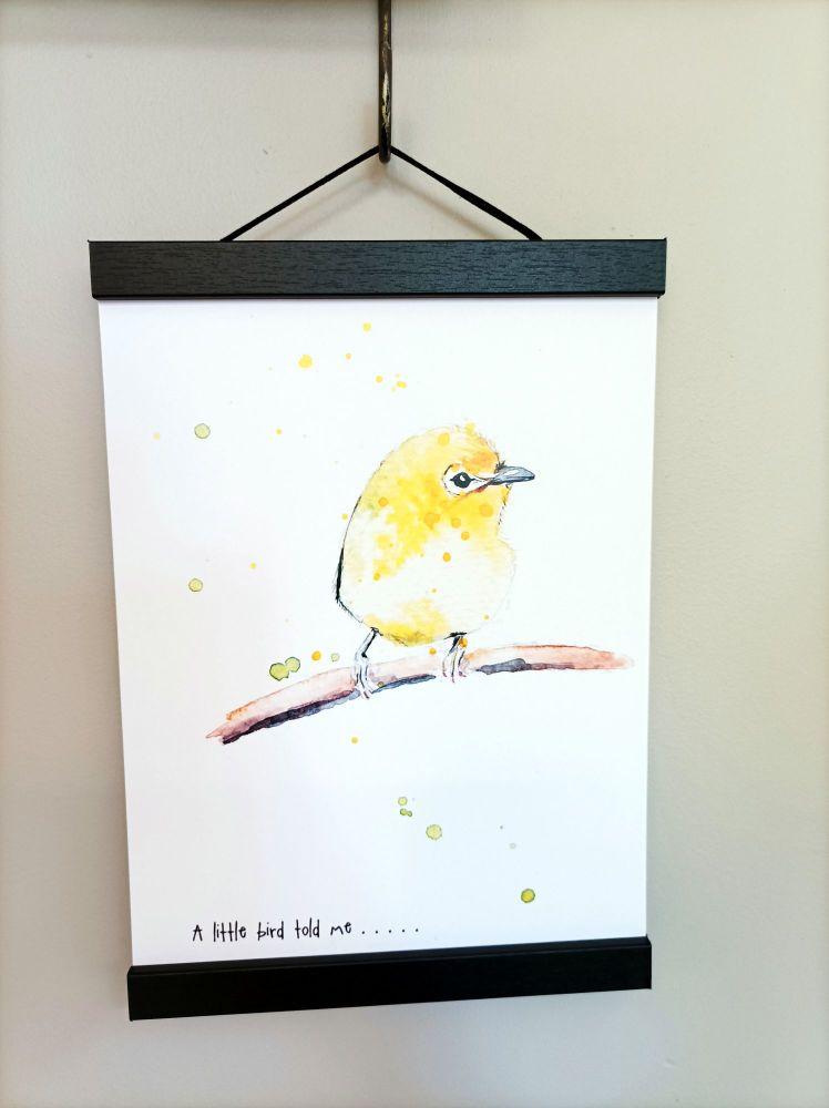 A little bird told me ......