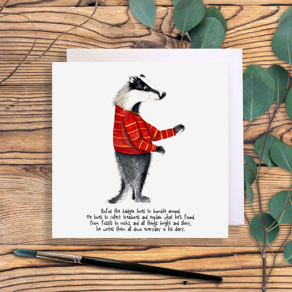 Rufus the badger