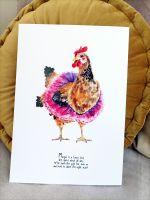 Margot the chicken