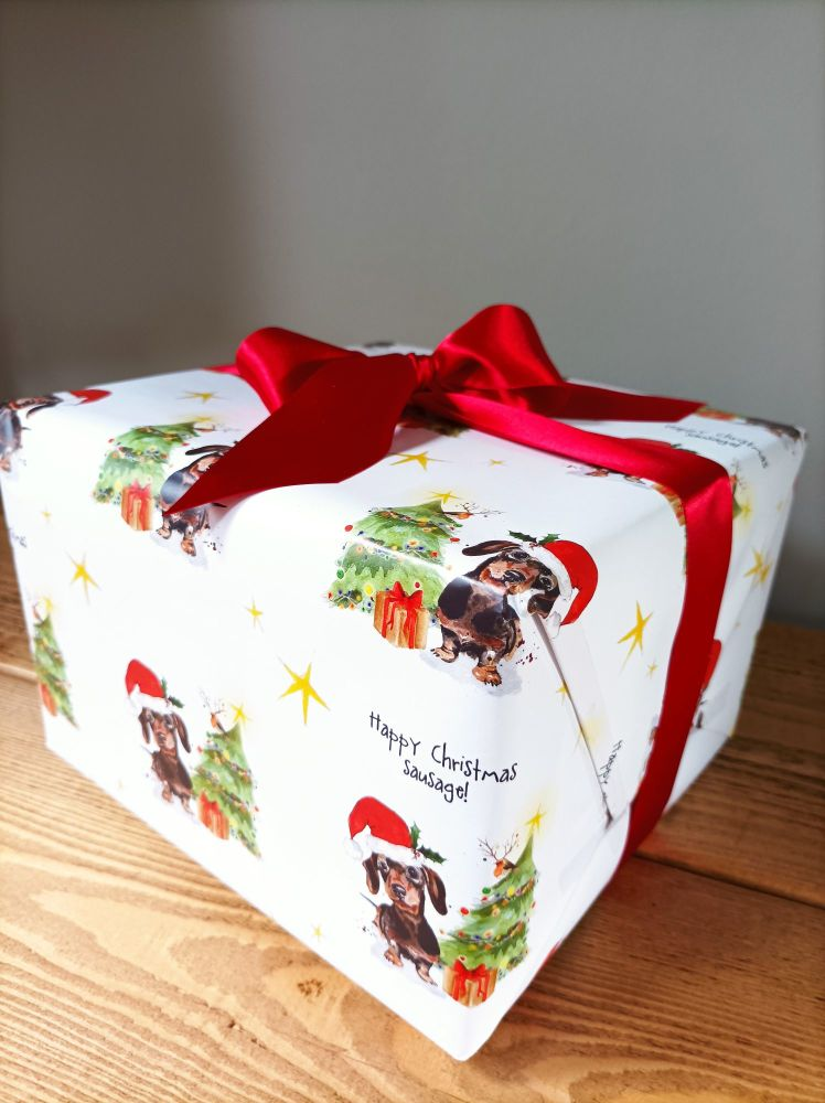 Happy Christmas sausage! - Wrapping paper - 2 sheets