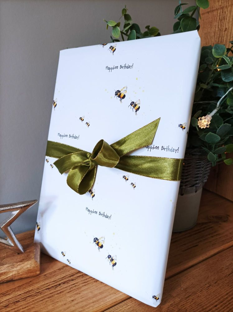 Happbee Birthday! - Wrapping paper - 2 sheets