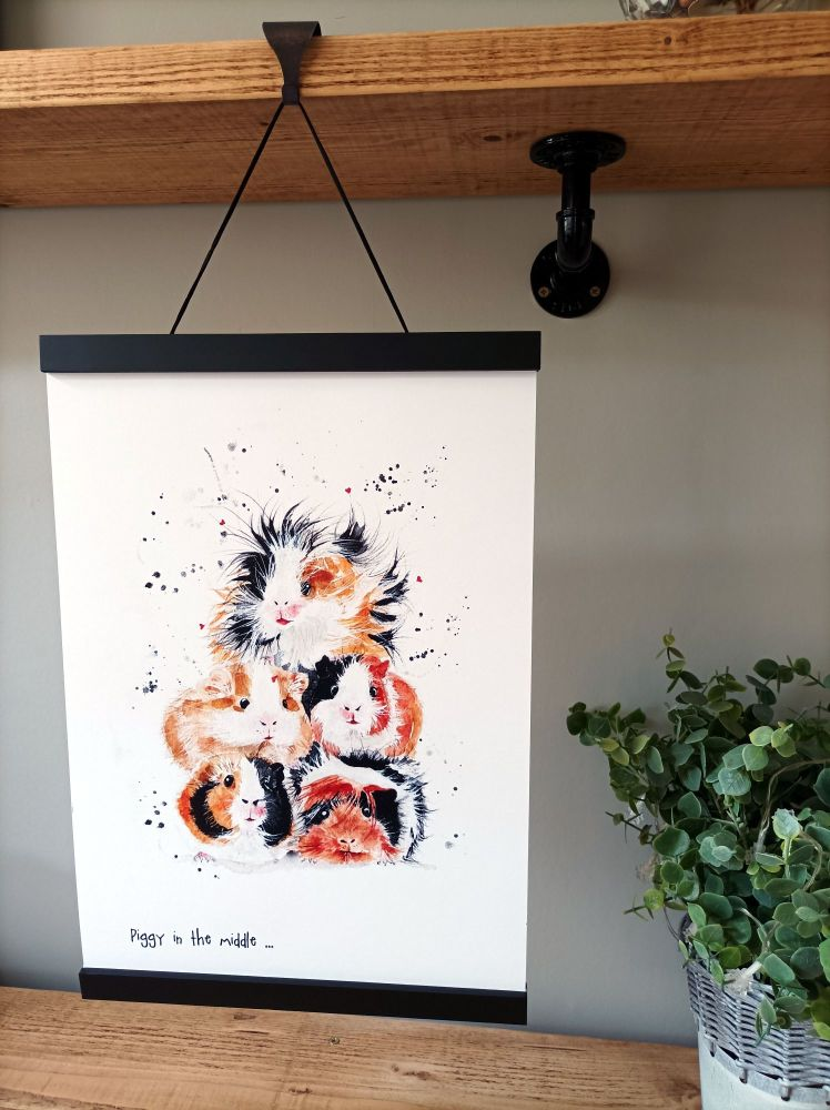 A3 size magnetic print hanger