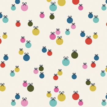 Dashwood - Merry & Bright Baubles 100% Cotton Fabric - MERR1500 - Multi