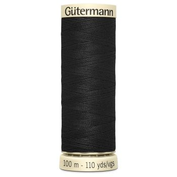 Gutermann 100m Sew All Thread - Black