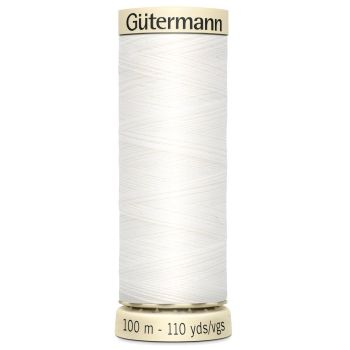 Gutermann 100m Sew All Thread - White