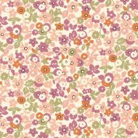Sevenberry - Petite Garden 100% Cotton Fabric - 6163D5-1 - Retro Summer Floral