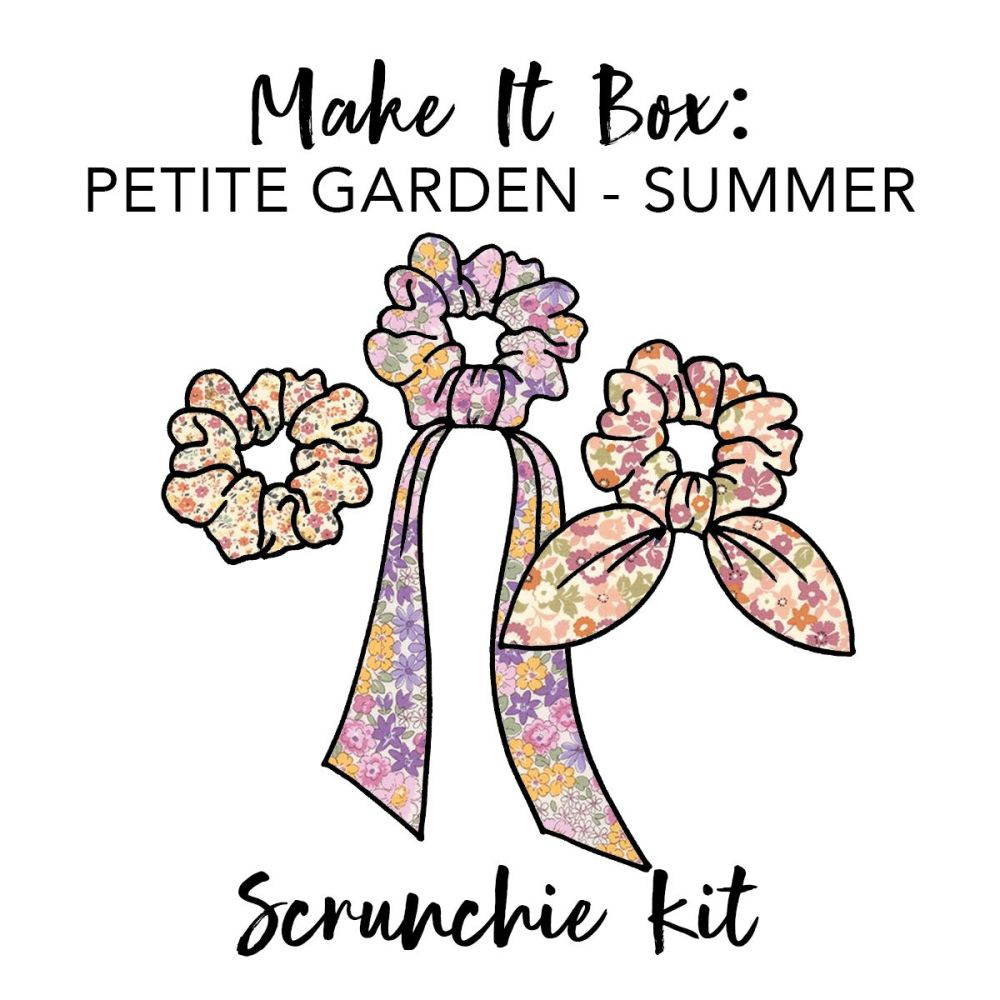 Make It Box - Scrunchie Kit - Summer Petite Garden Florals