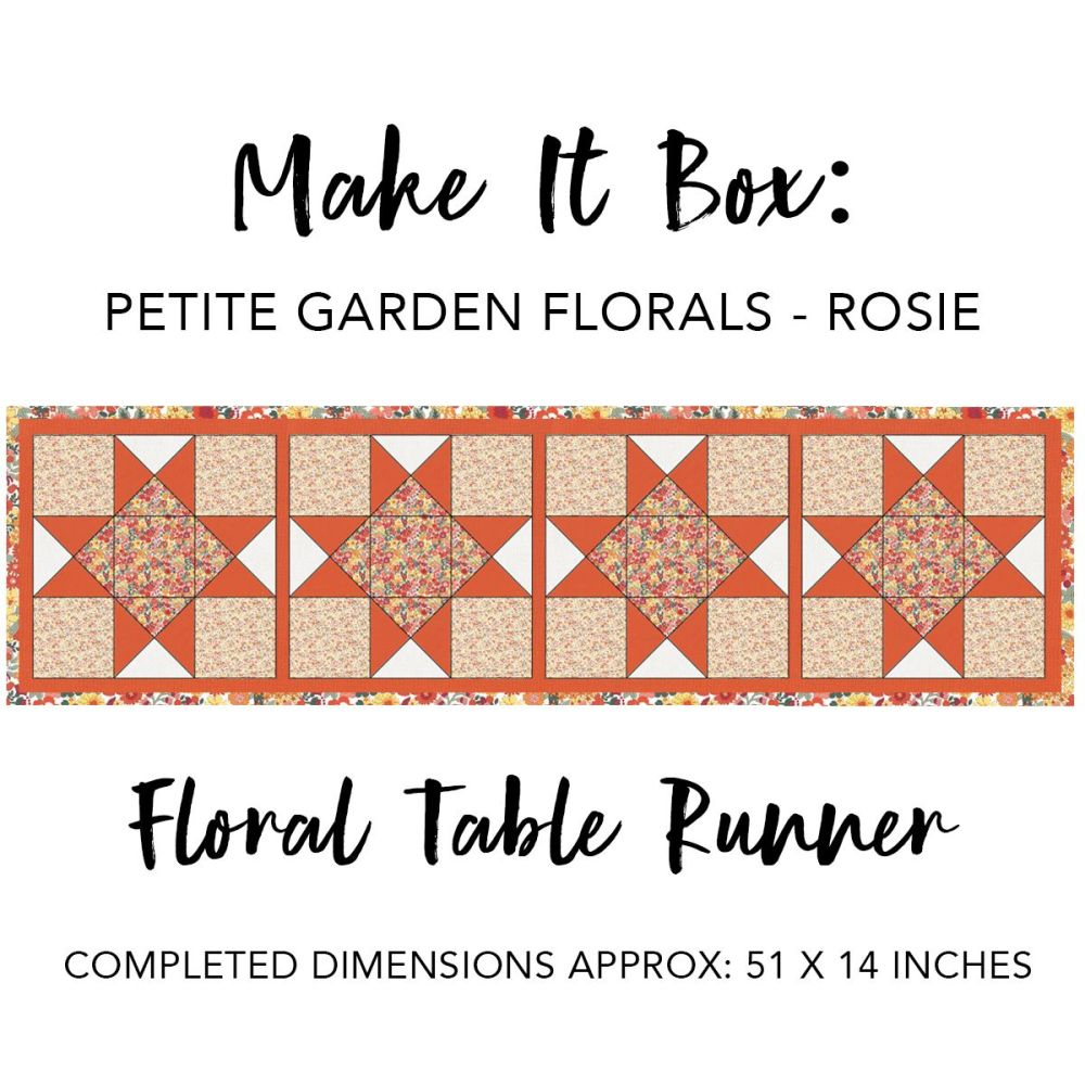 Make It Box - Floral Table Runner - Rosie Petite Garden Floral
