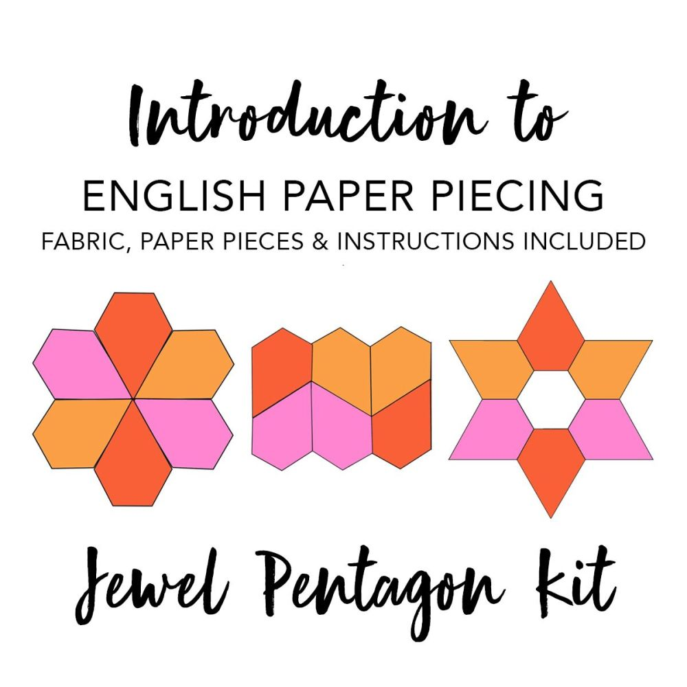 Introduction To English Paper Piecing Kit - Jewel Pentagon (Fabric Included