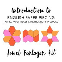 Introduction To English Paper Piecing Kit - Jewel Pentagon (Fabric Included)