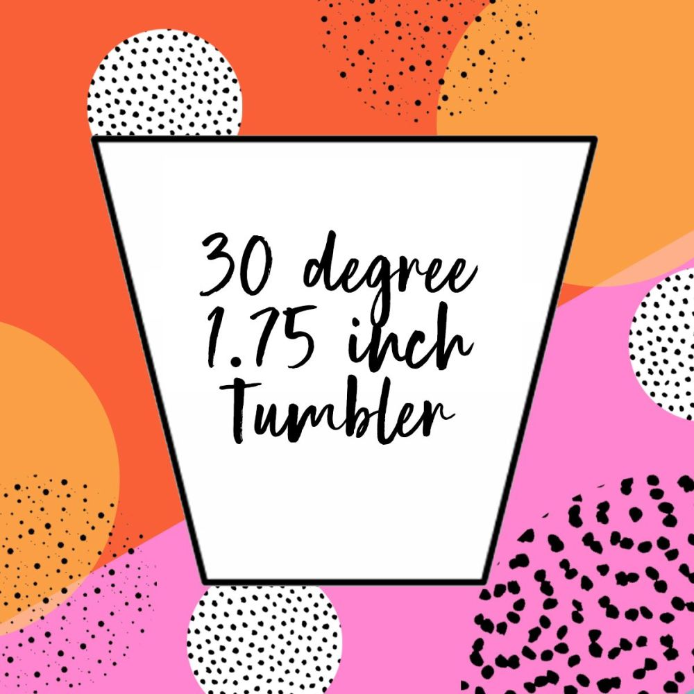 English Paper Piecing - 1.75 inch 30 Degree Tumblers - Pack 100
