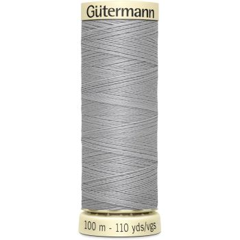 Gutermann 100m Sew All Thread - 38 - Light Grey