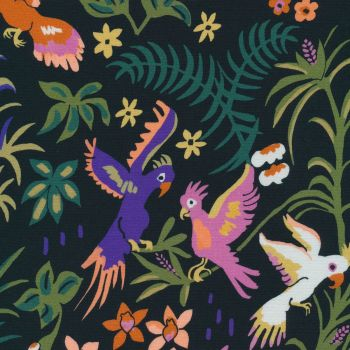 Cloud 9 - Garden Of Eden 100% Organic Cotton Fabric - Cockatoo