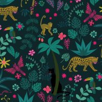 Dashwood Studio - Night Jungle 100% Cotton Fabric - Jungle