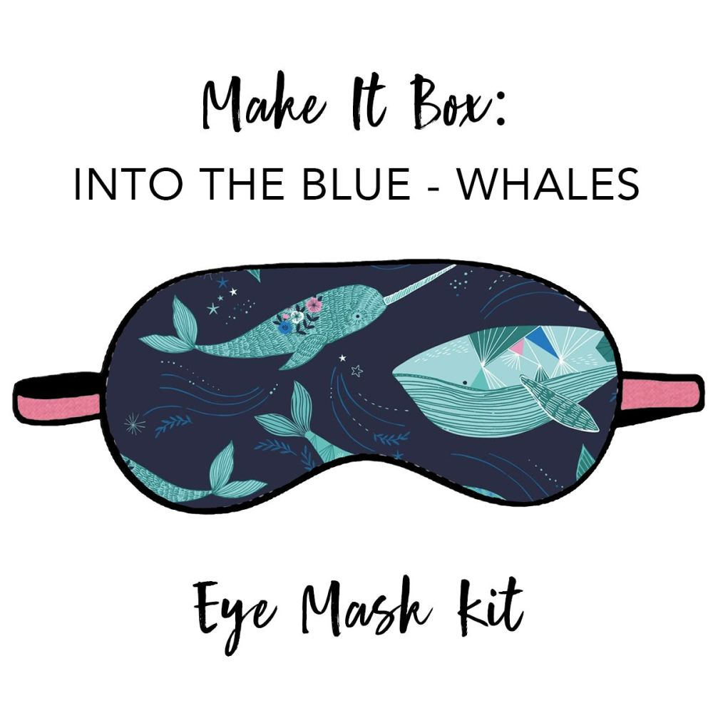 Make It Box - Eye Mask Kit - Into The Blue Whales