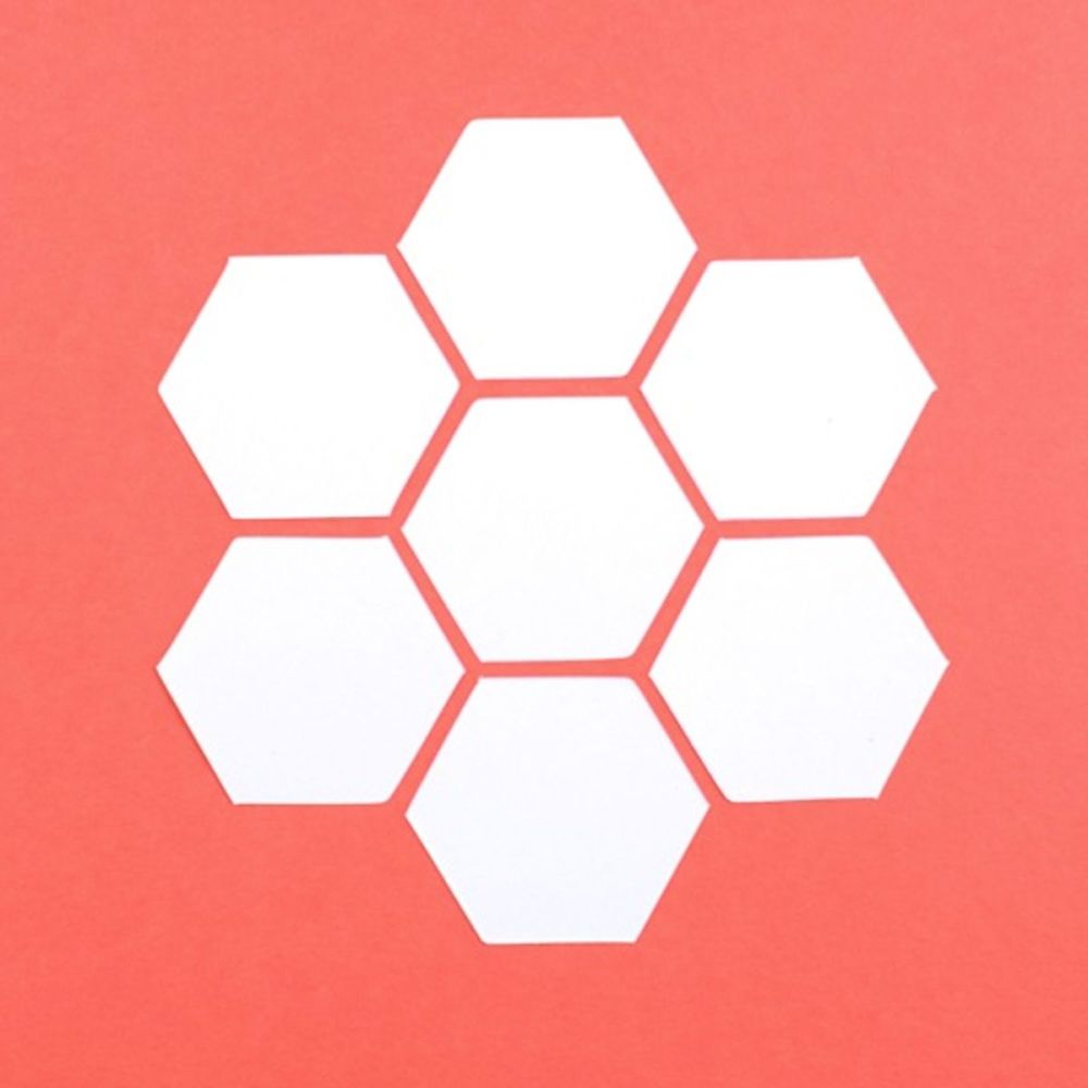 English Paper Piecing - 1 inch Hexagons - Pack 100