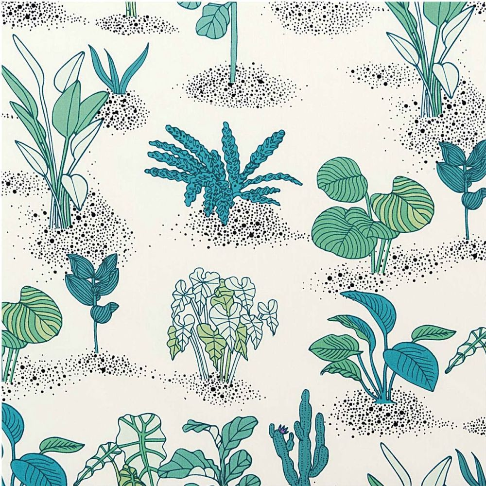 Rico Design - Plants & Grasses 100% Cotton Fabric - Neon