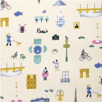 Rico Design - Paris 100% Cotton Fabric - Light Yellow