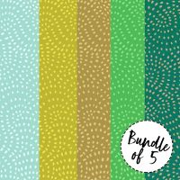 Dashwood Studios - Twist 100% Cotton Fabric Bundle of 5 - Jungle Shades