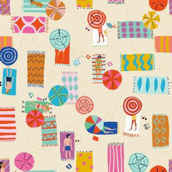 Dashwood Studio - Lazy Days 100% Cotton Fabric - Sun Bathing Cream