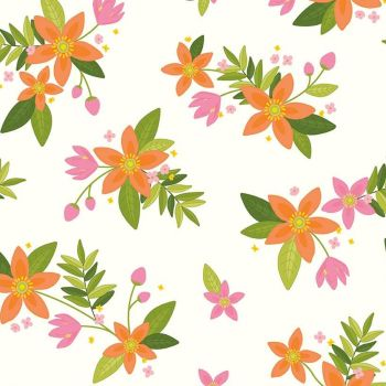 Riley Blake - Grove 100% Cotton Fabric -  Cloud Floral