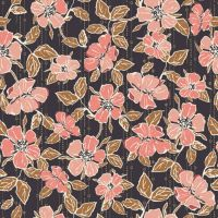 Art Gallery Fabrics - Homebody 100% Cotton Fabric - Crafted Blooms Cacao