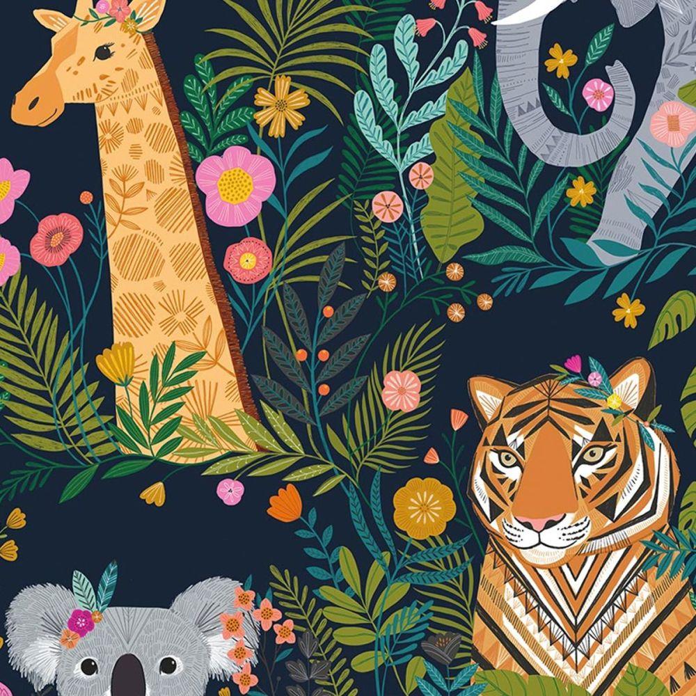 Dashwood Studio - Our Planet 100% Cotton Fabric - Animal Kingdom Navy
