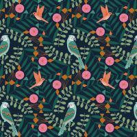 Dashwood Studio - Our Planet 100% Cotton Fabric - Parrots & Hummingbirds