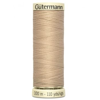 Gutermann 100m Sew All Thread - 186 - Beige