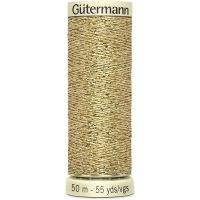 Gutermann 50m Sew All Thread - 24 - Gold Metallic