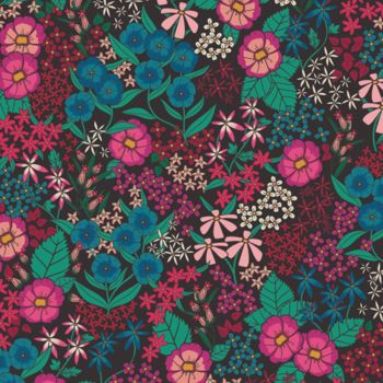 Art Gallery Fabrics - Flower Society 100% Cotton Fabric - Perennial Soiree