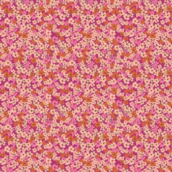 Art Gallery Fabrics - Flower Society 100% Cotton Fabric - Retro Prairie Blush