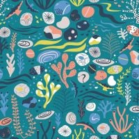 Dashwood Studio - Rock Pool 100% Cotton Fabric - Teal