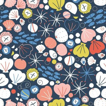 Dashwood Studio - Rock Pool 100% Cotton Fabric - Navy