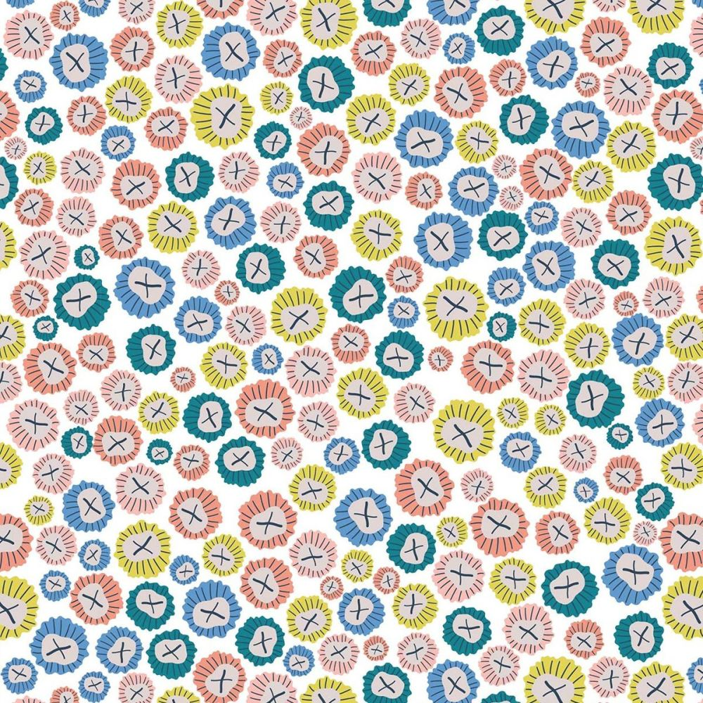 Dashwood Studio - Rock Pool 100% Cotton Fabric - White