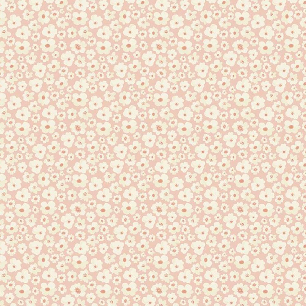 Riley Blake - Ava Kate 100% Cotton Fabric - Blush Flowers