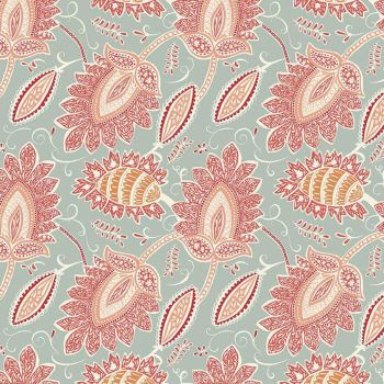 Riley Blake - Ava Kate 100% Cotton Fabric - Damask Seafoam