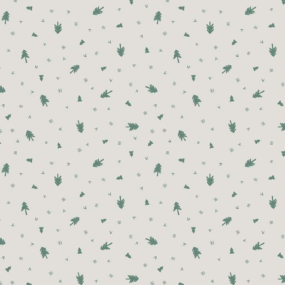 Riley Blake - Camp Woodland 100% Cotton Fabric - Off White Trees