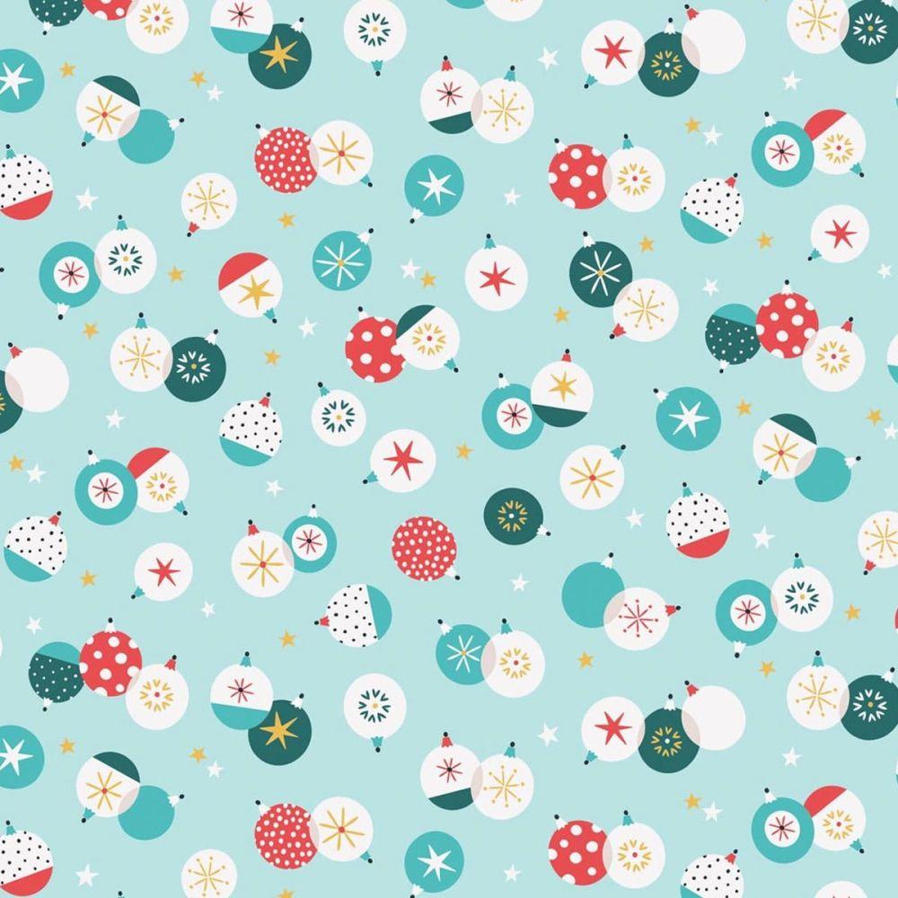 Dashwood Studios - Forest Friends 100% Cotton Fabric - Christmas Baubles Me